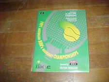 1991 South Australian Men's Open Championship Tennis Program