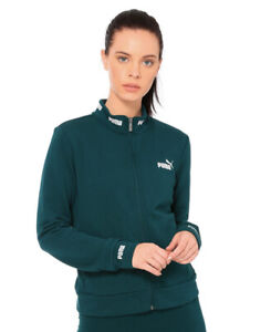 Puma Womens Forest Green Track Sweater With Full Zip Size XS MSRP 55