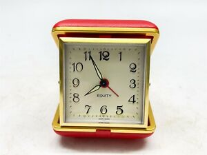 Vintage Windup Mechanical Travel Alarm Clock - Working Well <D21