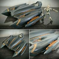 RARE Star Wars Clone Wars General Grievous Starfighter & Action Figure Hasbro 07