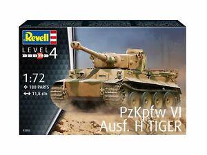 Pzkpfw VI Tiger Ausf. H Tanque 1:72 Plástico Modelo Kit Revell