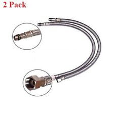 """2 pack Stainless Steel 3/8"""" OD Water Supply Hose for kitchen & vanity Faucet"""