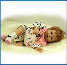 Reborn Baby Girl Doll Realistic Silicone Vinyl Boy 21'' Newborn Bebe Nursery Toy