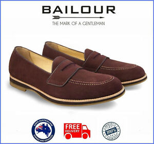 Men's Formal And Casual Brown Maroon Shoes Luxury Loafers Handmade High Quality