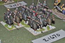 25mm roman era / sarmatian - cataphracts 9 figs cavalry - cav (21670)