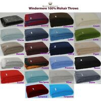Masterweave Windermere Mohair Throw Rug Blanket 22-Colour Options RRP $239.95