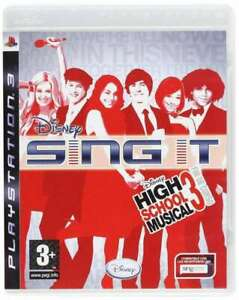 Disney Sing It High Scool Musical 3 DVD per Playstation 3 Nuovo Originale