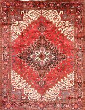 Hand-Knotted Geometric Oriental Wool Collectible Area Rug Carpet 8 x 11