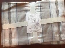 $49.95 Williams Sonoma Capri Stripe Place Mats Natural Linen Cotton Set of 4 NWT