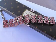 VERY RARE JEWELED  JUICY COUTURE BRACELET DOG COLLAR  TAGGED BOX DOGGY COUTURE