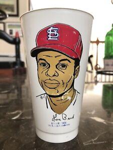Vintage 1973 Lou Brock - St. Louis Cardinals Baseball 7-11 Slurpee Cup