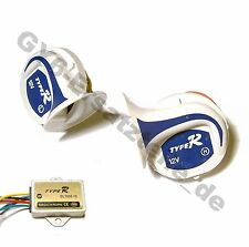 ELECTRIC SIREN LOUD HORN MULTI SOUNDS 12V GY6 SCOOTER MOPED ATV CAR BOAT TRUCK