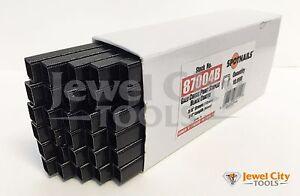 "22 Gauge Black Staples Upholstery 3/8"" Crown 1/4"" Length Inches 22Ga GA 87004B"