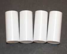 """SET OF 4 WHITE PLASTIC 2"""" TALL CANDELABRA SOCKET CANDLE COVERS  7/8""""O.D. 50254J"""