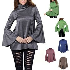 Maglia Autunno Manica Lunga Larga Donna Woman Long Sleeve T-Shirt Top 561028B P