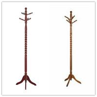 "Classic Hall Tree Twist Design with 6 Hooks Hanger Wooden Coat & Hat Rack 71"""