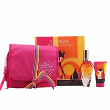 ROCKIN' RIO By Escada, GIFT SET  EDT/LOTION/POUCH *BRAND NEW IN DAMAGED BOX*