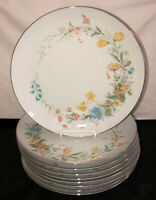 "9 Premiere Fine China BERKSHIRE 10 1/2"" DINNER PLATES MD104"