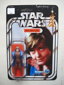 Vintage STAR WARS AUNT BERU CUSTOM on New Hope Style Card
