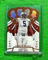 DERRICK BROWN PRIZM ROOKIE CARD PANTHERS 2020 PANINI CHRONICLES CROWN ROYALE RC