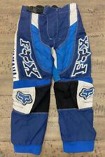 Boys Youth Fox Racing 180 Yamaha Athletic Motocross Pants Blue Size 8-24 W/ Pads