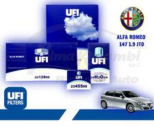 4 FILTRI KIT TAGLIANDO UFI ALFA 147 1,9 JTD - JTDM 8 / 16V 115 120 140 150CV