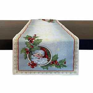 Runner natalizio 40x100cm decorazioni Centrotavola Natale Maestri Cotonieri 4446