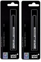 Genuine Montblanc Ballpoint Pen Refills, Black or Blue, Sealed Packs, 2 Packs