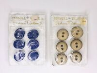New on Card Vtg Unusual Value in Fashion Buttons Large Purple & Wood 6 per Card