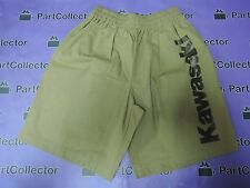 NEW KAWASAKI MEN'S BERMUDA SHORT TROUSER LIGHT BROWN SIZE MEDIUM J8909-0018