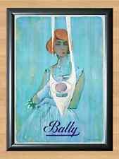 Bally Villemot French Shoes Retro Vintage Decor Photo Poster Picture Print A4