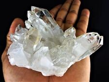 Clear Quartz Crystal Cluster - 8 Ounce Large Natural Specimen from Brazil LME333