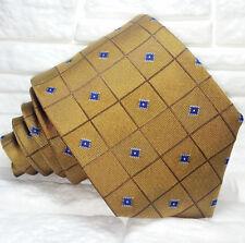 Bronzo & Blue Cravatta  nuova 100% seta Made in Italy Morgana brand