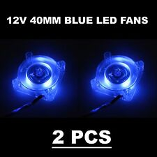 2 Pcs 12V 40mm Gdstime Blue LED Cooling Case Fan 3Pin DC 40x40x10mm 4010s
