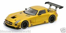 1:18 Scale 2011 Mercedes-Benz SLS AMG GT3 - Street - Gold -by Minichamps