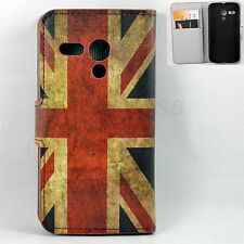 Union Jack Skin Wallet Flip Leather Holster Cover Case For Motorola Moto G 1 Gen