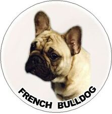 2 French Bulldog Round Car Stickers No 3 By Starprint