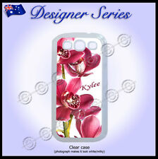 For Samsung Galaxy S3 case Personalised cover Orchid Pretty Pink Red Flower 65