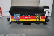 Märklin 2-Achser gedeckter Güterwagen 28.September 1991 DR/DB Spur H0 OVP