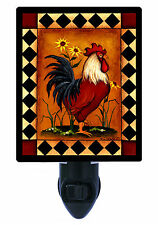 Night Light - Red Rooster - Country Themed Kitchen Light - Chicken