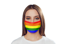 Gay Pride Rainbow Face mask- LGBTQ Parade Protective Covering Present Proud Gift