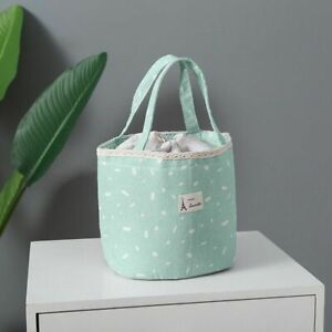Lunch Bag Washable Thermal Women Kids Picnic Travel Portable Breakfast Container