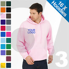 16 X Personalised Embroidered / Printed Hoodies Customised Workwear Text/Logo