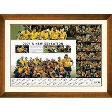 2004 Australian Wallabies Hand Signed & Framed A New Sensation Print Certificate