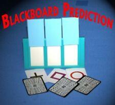 BLACKBOARD PREDICTION CARDS Mental Mind Reading Magic Trick ESP Set Frame Pocket
