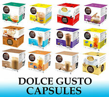 NESCAFE DOLCE GUSTO CAPSULES - SOLD LOOSE - 2 to 48 Capsules - Many Flavors