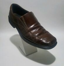 Ecco Men's Brown Leather Bicycle Toe slip on loafers SIZE 47/US Size 13-13.5