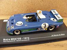 Matra MS 670B 1974 LeMans winning car  in 1:43rd. Scale