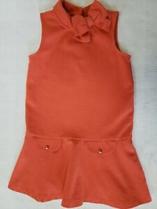 Janie And Jack Orange Dress Size 6 Excellent Used Condition