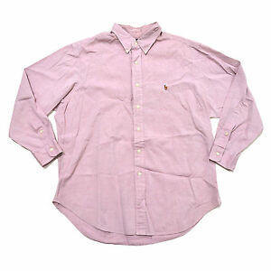 Ralph Lauren Mens Dress Shirt Classic Fit Long Sleeve Buttondown Pony Logo New